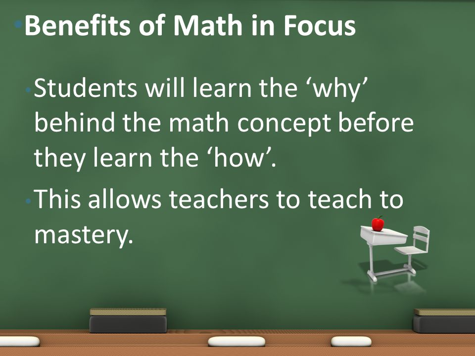 Benefits of Math in Focus