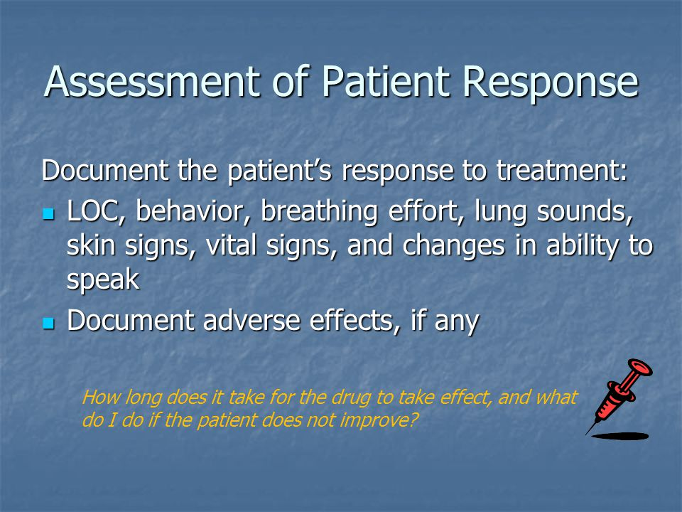 Assessment of Patient Response
