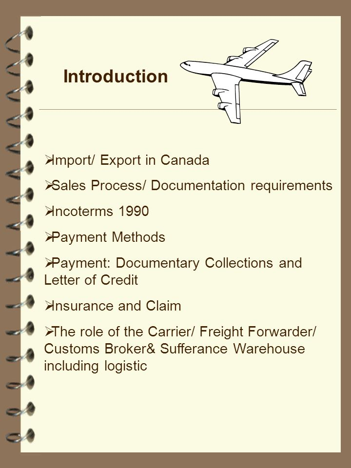 Introduction Import/ Export in Canada