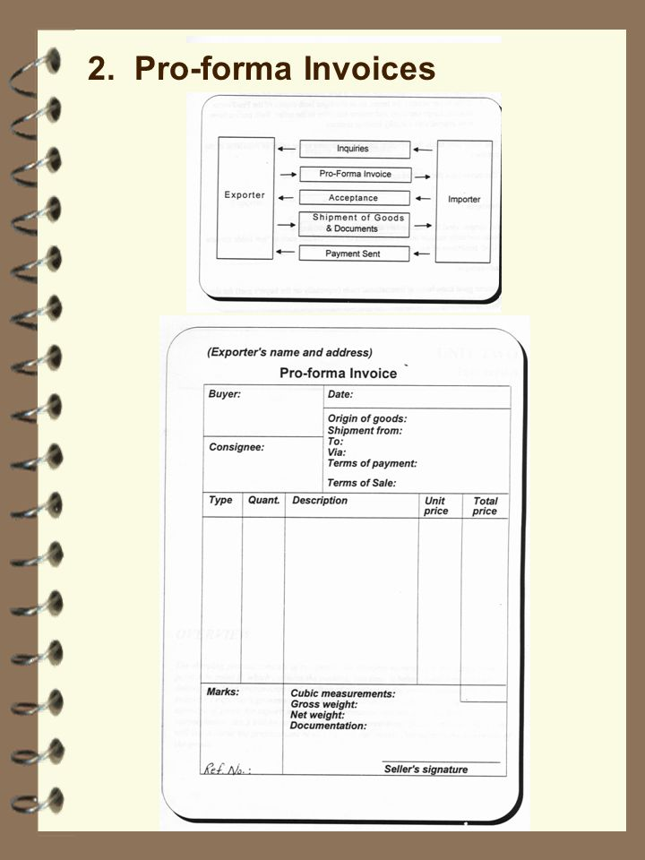 2. Pro-forma Invoices