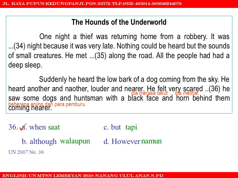 The Hounds of the Underworld
