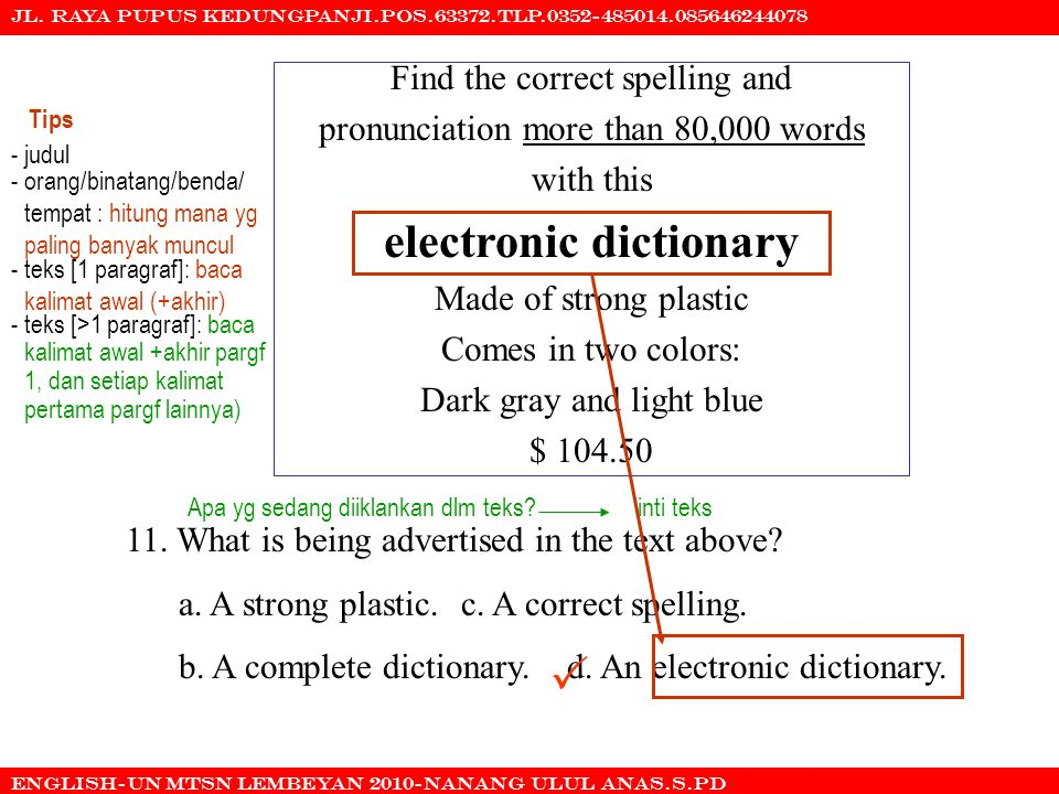  electronic dictionary Find the correct spelling and