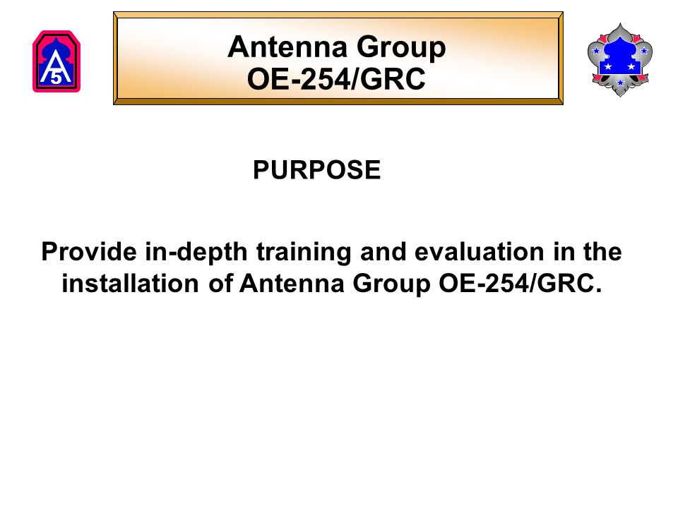 Antenna Group OE-254/GRC PURPOSE