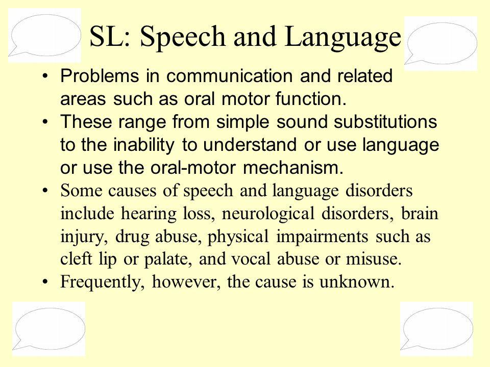 SL: Speech and Language