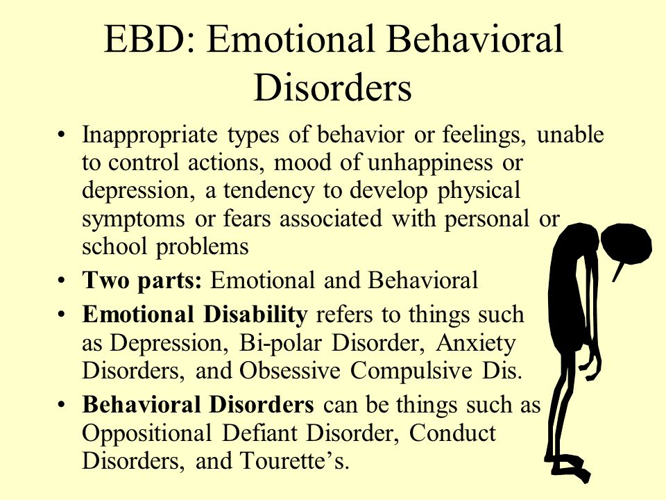 EBD: Emotional Behavioral Disorders