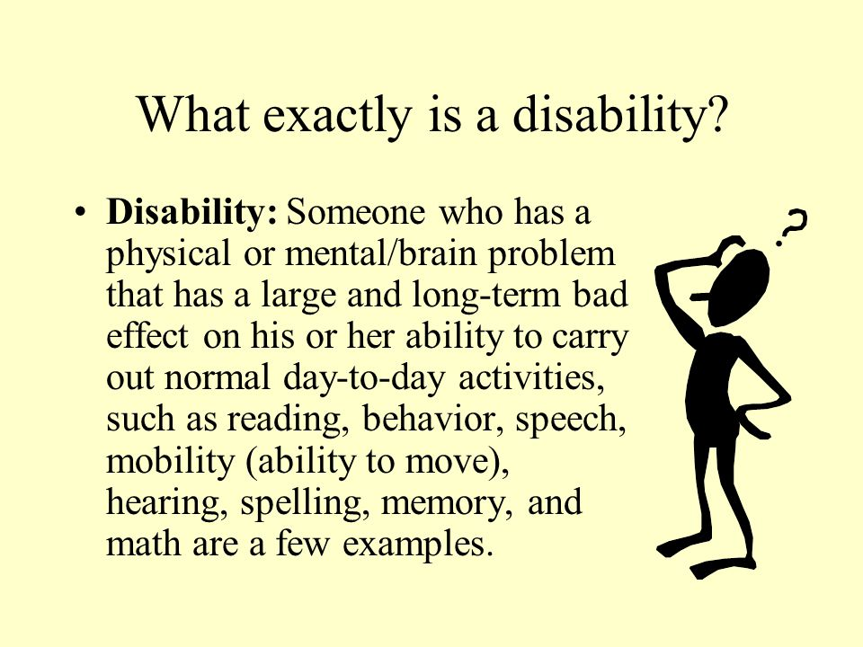 What exactly is a disability