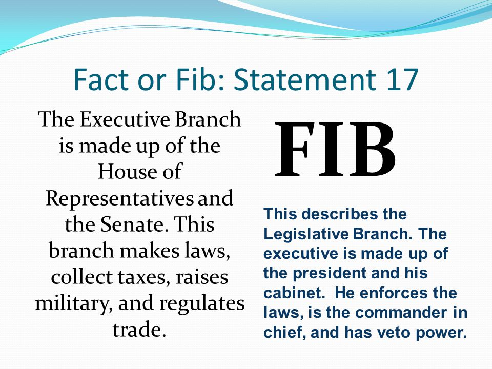 FIB Fact or Fib: Statement 17