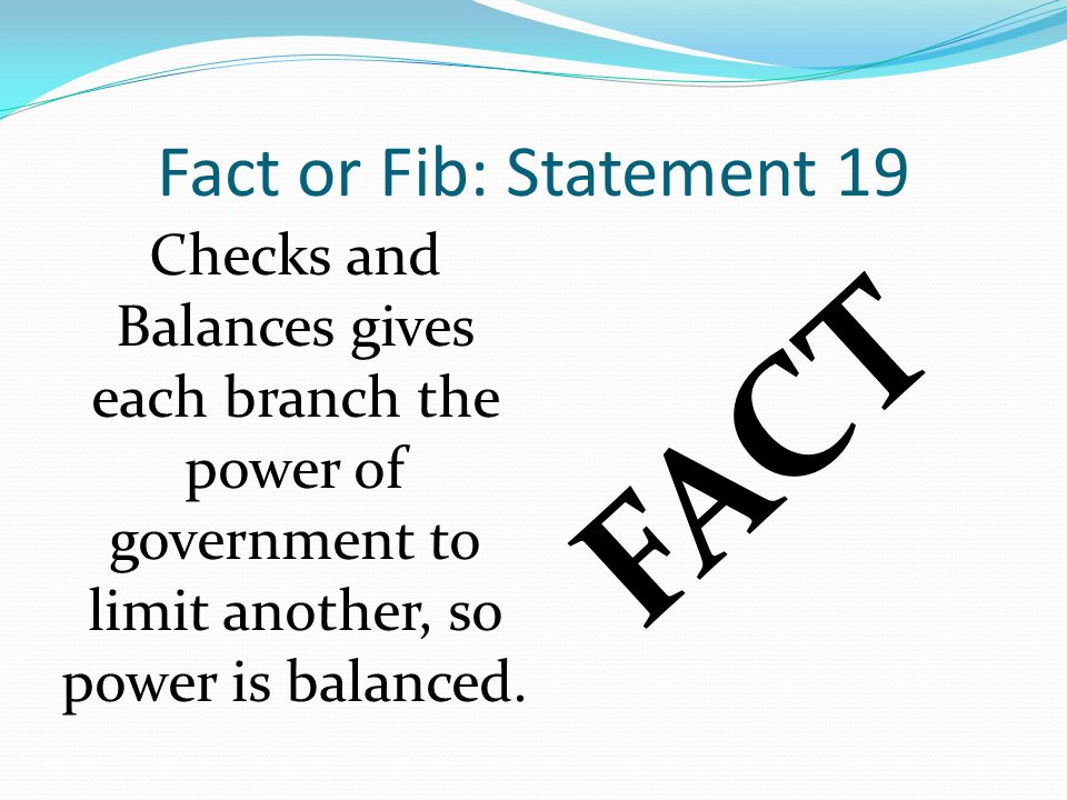 FACT Fact or Fib: Statement 19