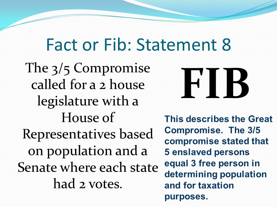 FIB Fact or Fib: Statement 8