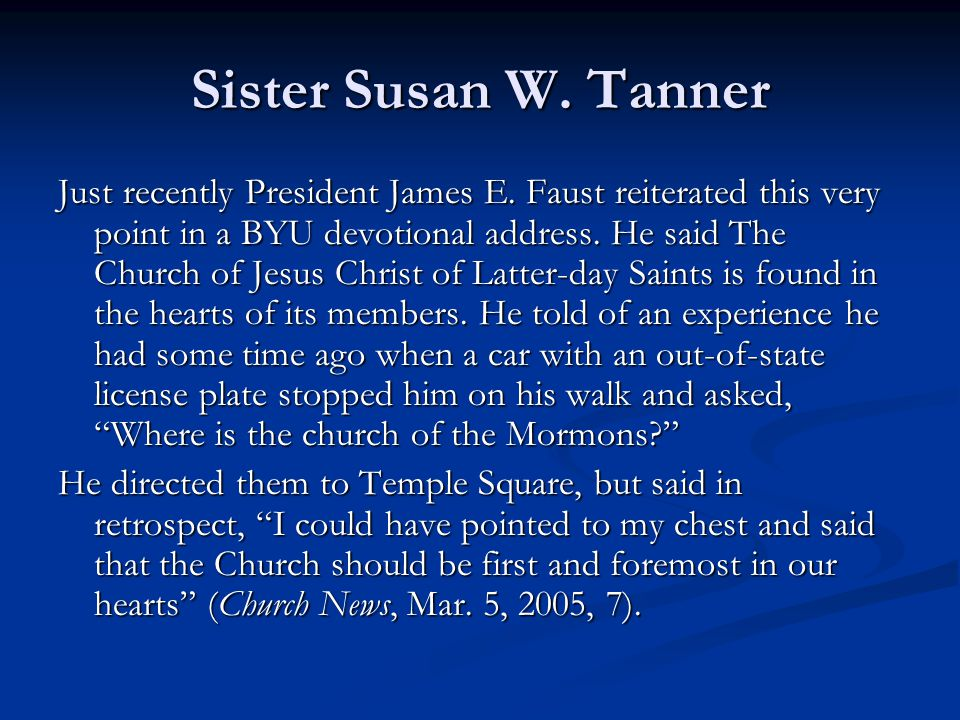 Sister Susan W. Tanner