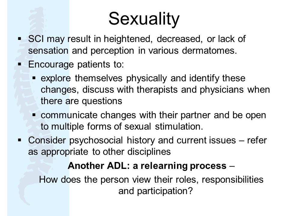 Another ADL: a relearning process –