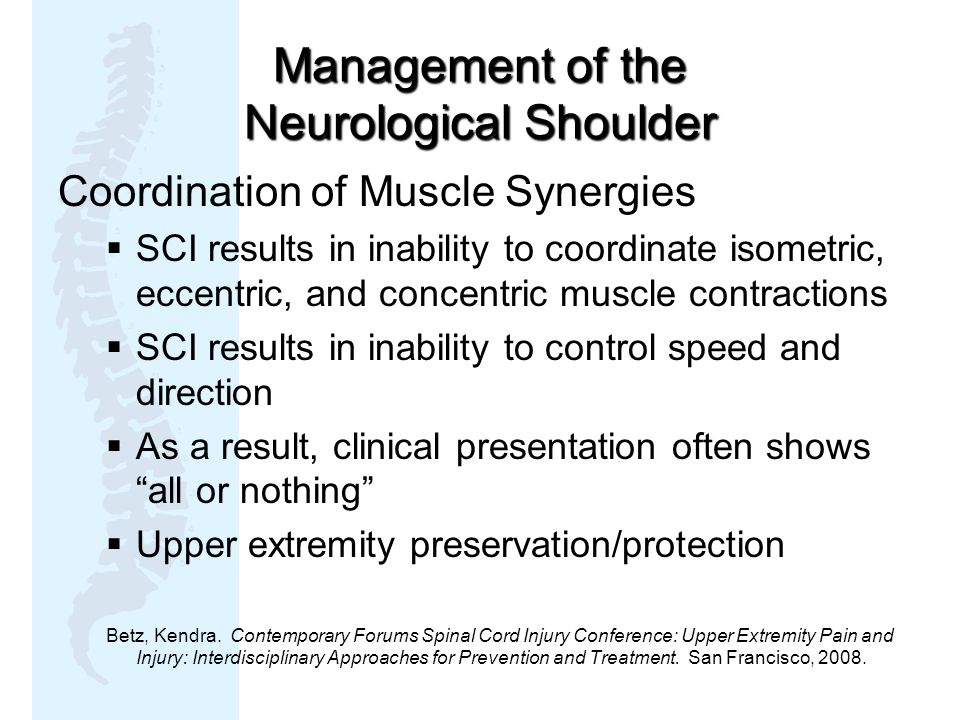 Management of the Neurological Shoulder