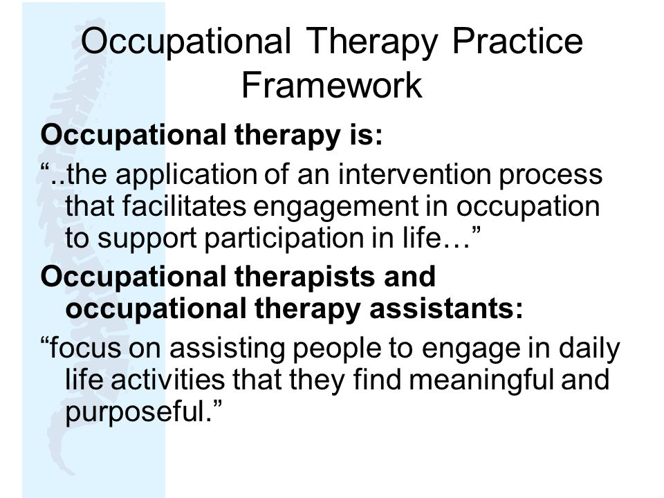Occupational Therapy Practice Framework