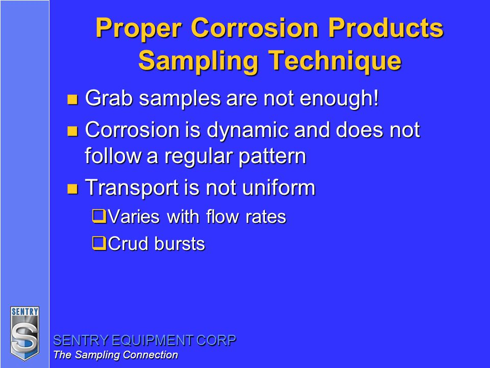 Proper Corrosion Products Sampling Technique