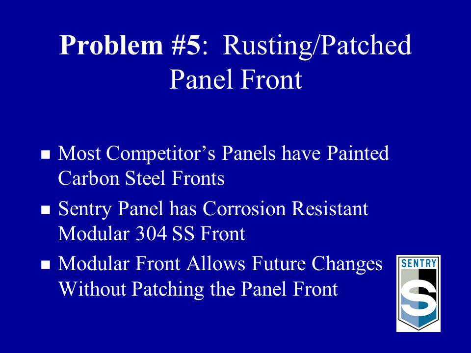 Problem #5: Rusting/Patched Panel Front
