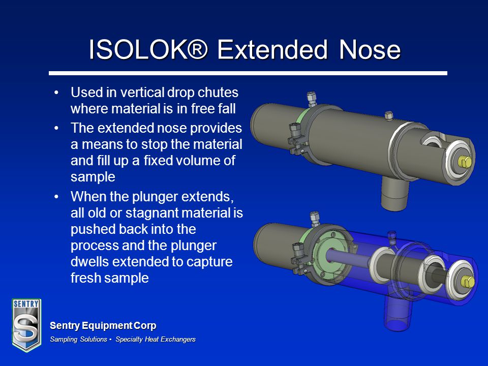 ISOLOK® Extended Nose Used in vertical drop chutes where material is in free fall.