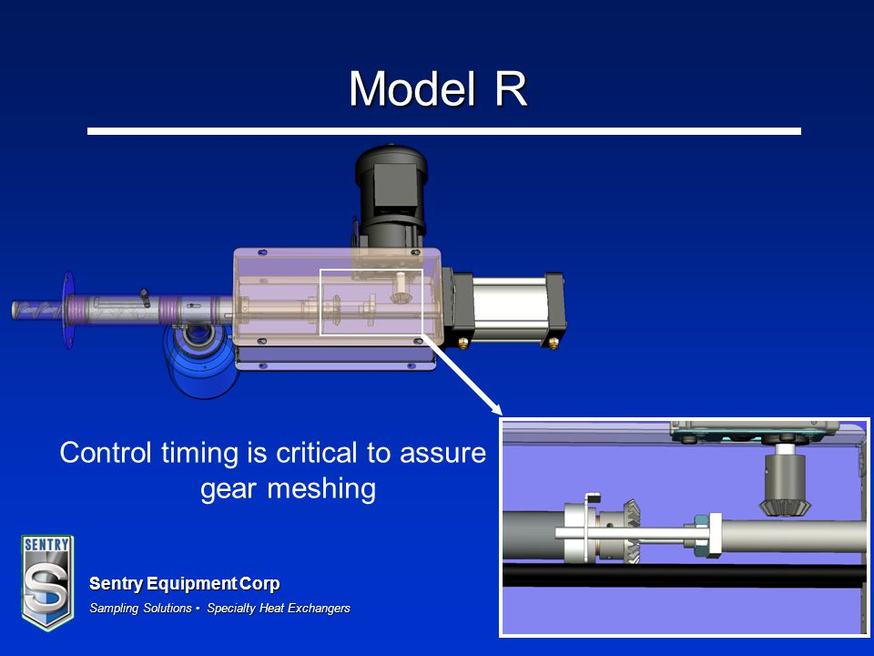 Control timing is critical to assure gear meshing