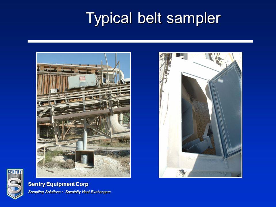 Typical belt sampler