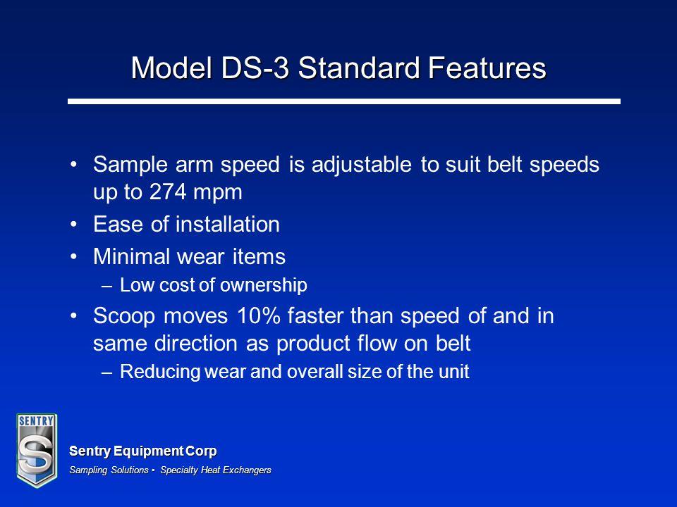 Model DS-3 Standard Features