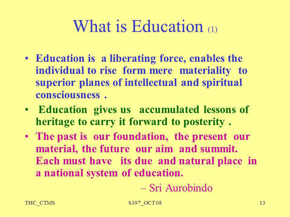 What is Education (1)