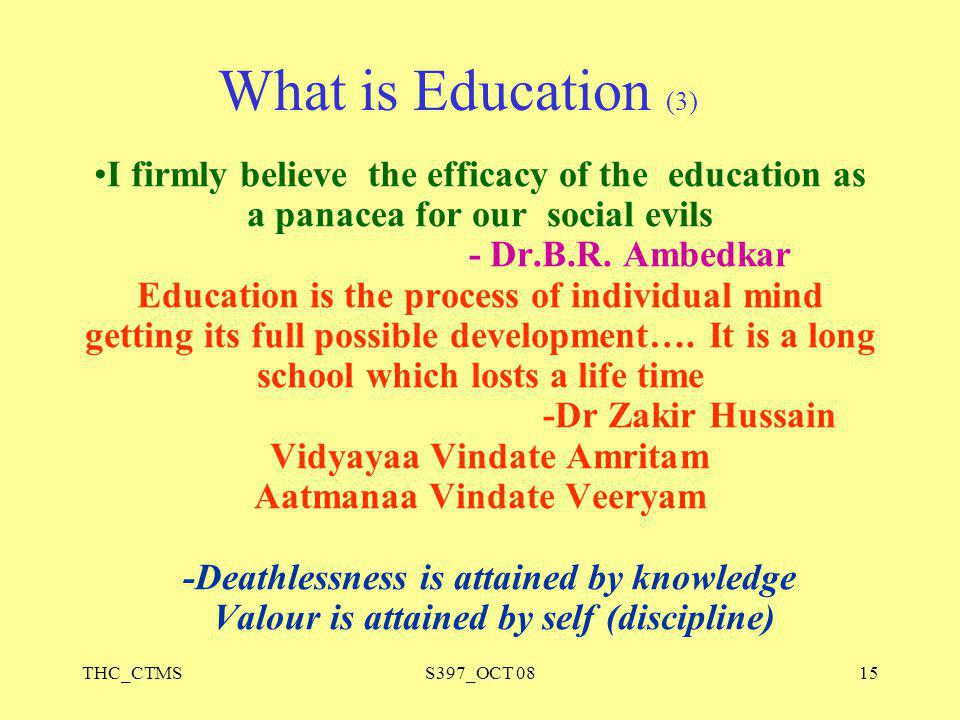 What is Education (3)