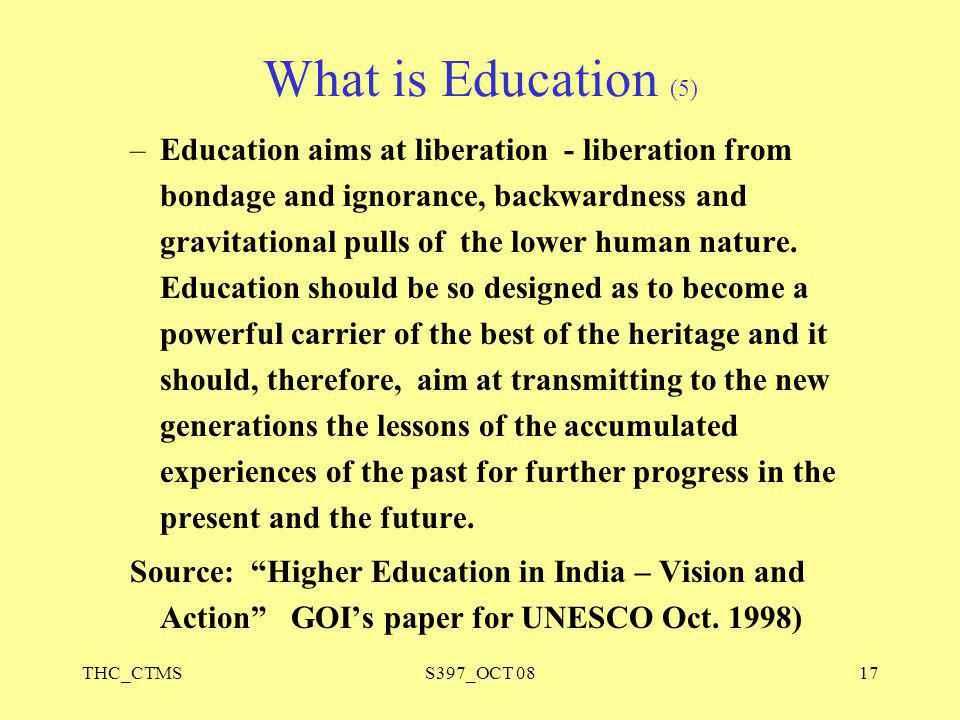 What is Education (5)
