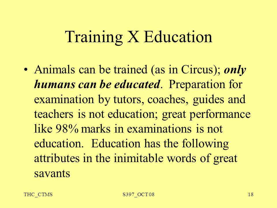 Training X Education