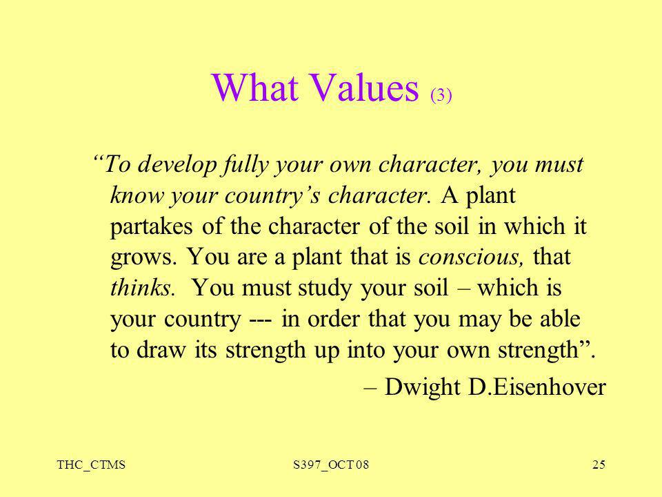 What Values (3)