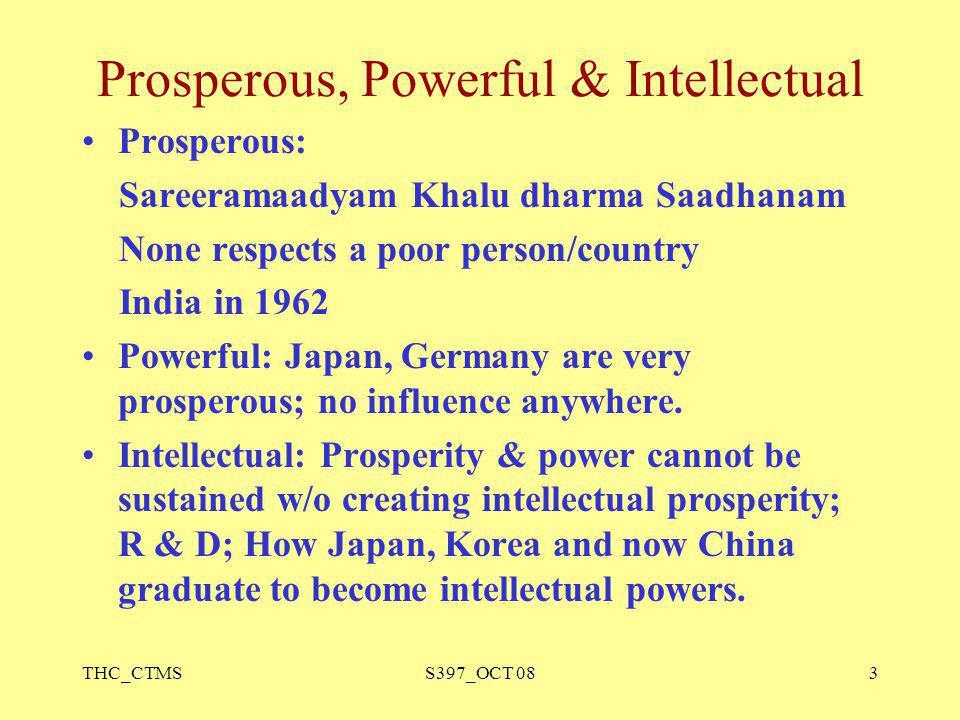 Prosperous, Powerful & Intellectual