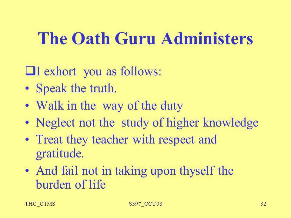 The Oath Guru Administers