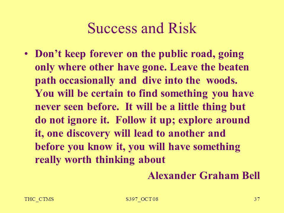 Success and Risk