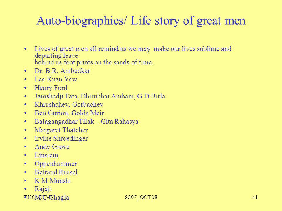 Auto-biographies/ Life story of great men