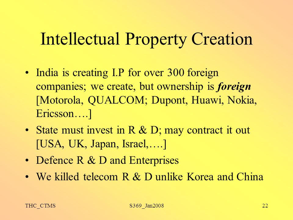 Intellectual Property Creation
