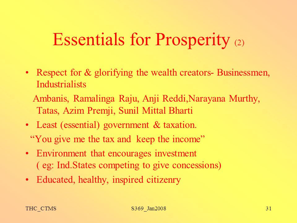 Essentials for Prosperity (2)