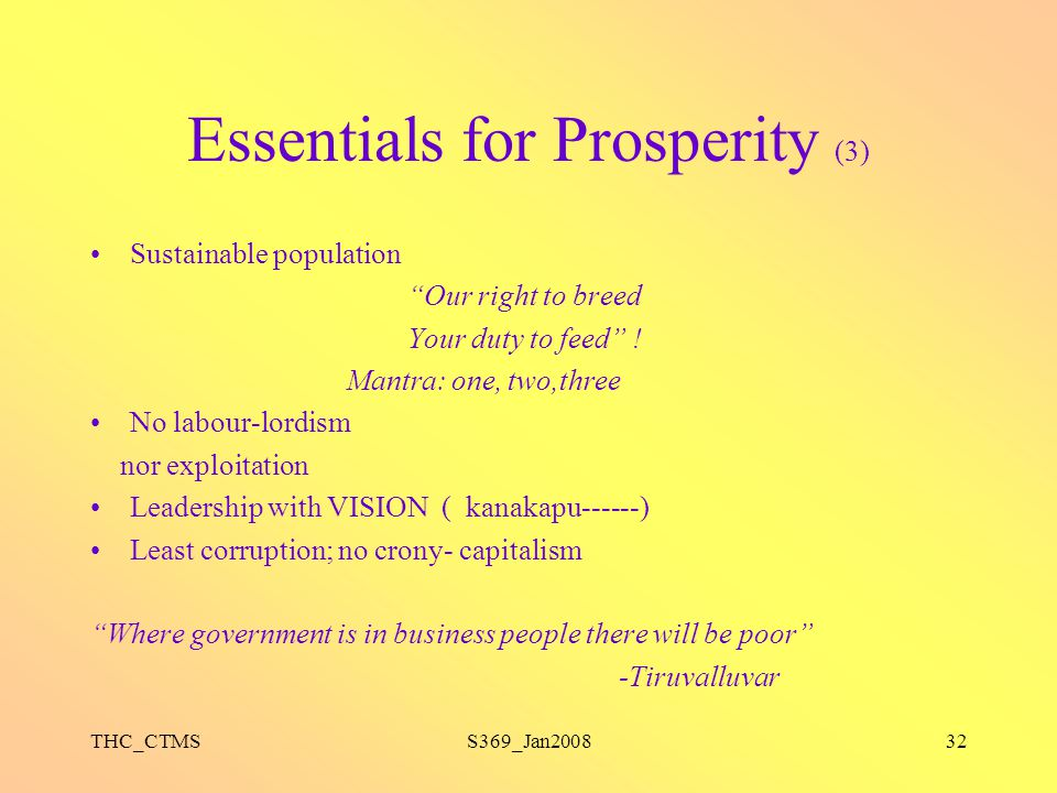 Essentials for Prosperity (3)