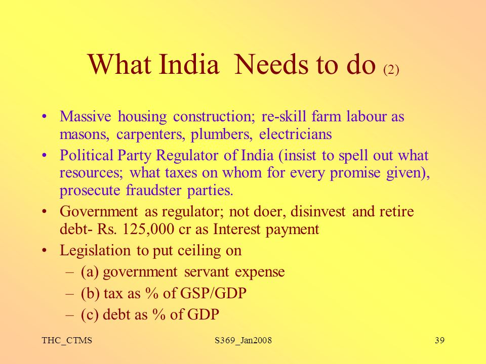 What India Needs to do (2)