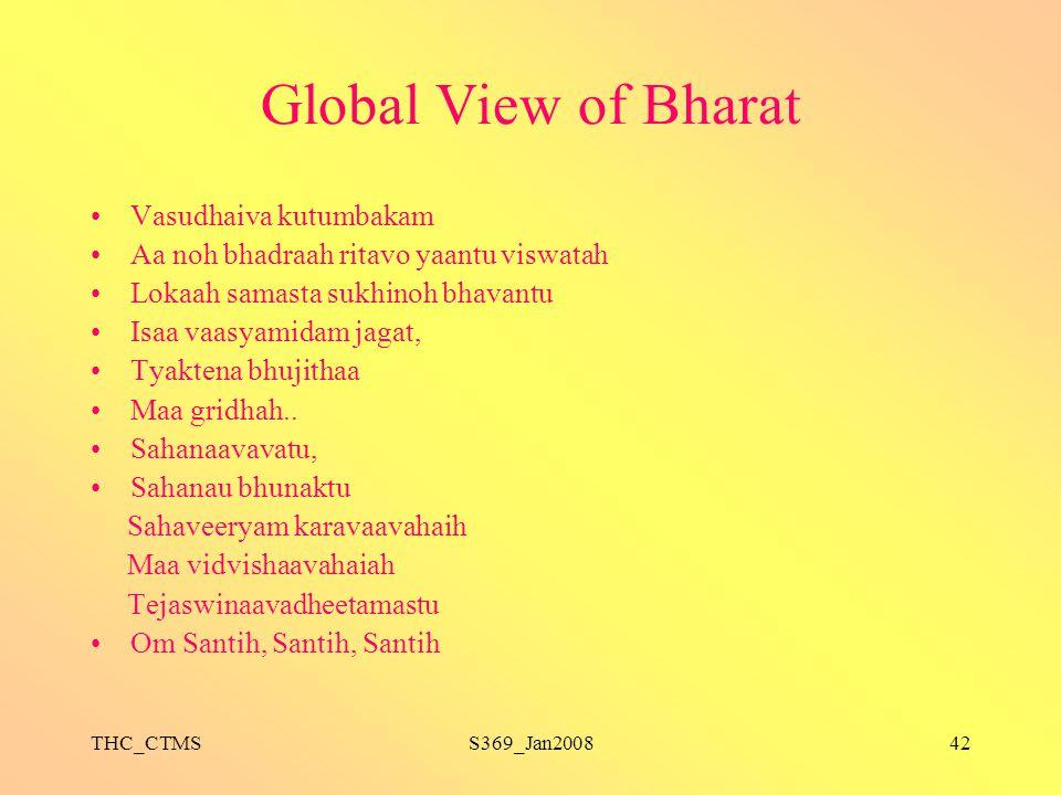 Global View of Bharat Vasudhaiva kutumbakam
