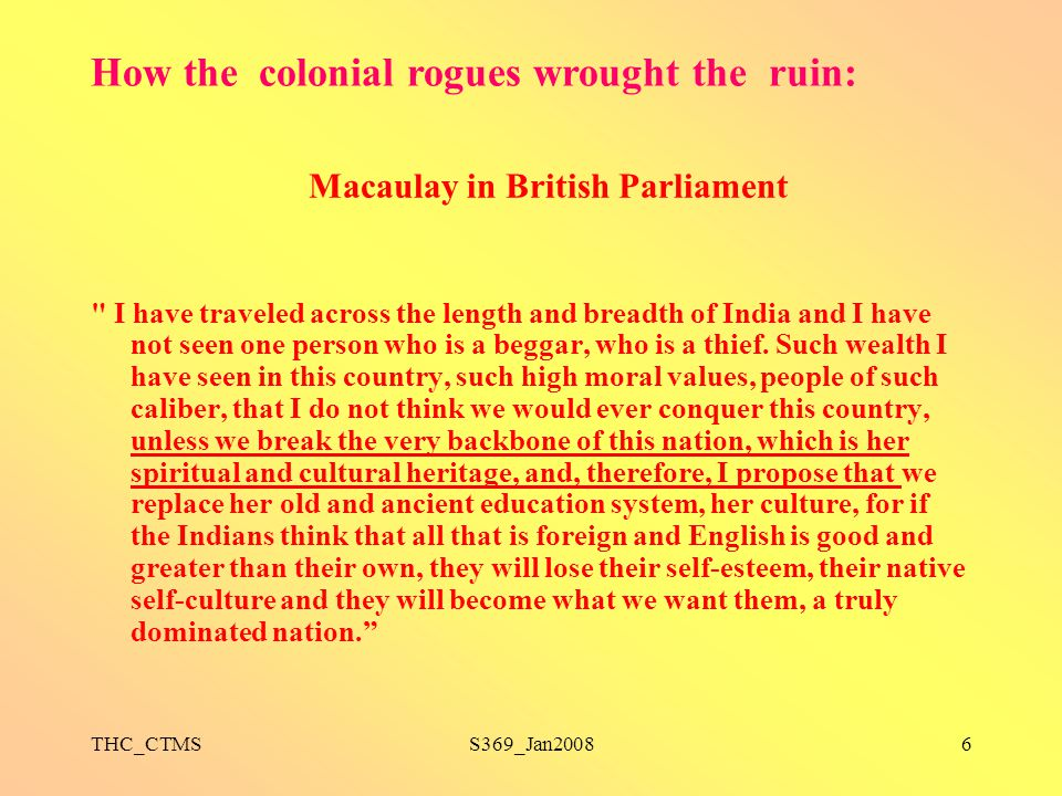 Macaulay in British Parliament