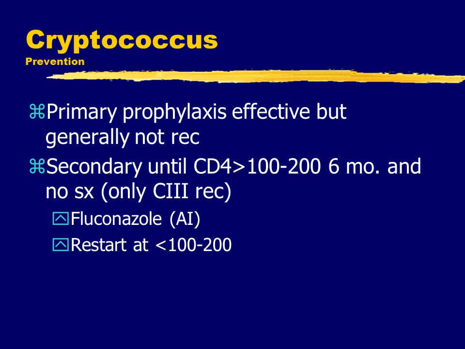 Cryptococcus Prevention