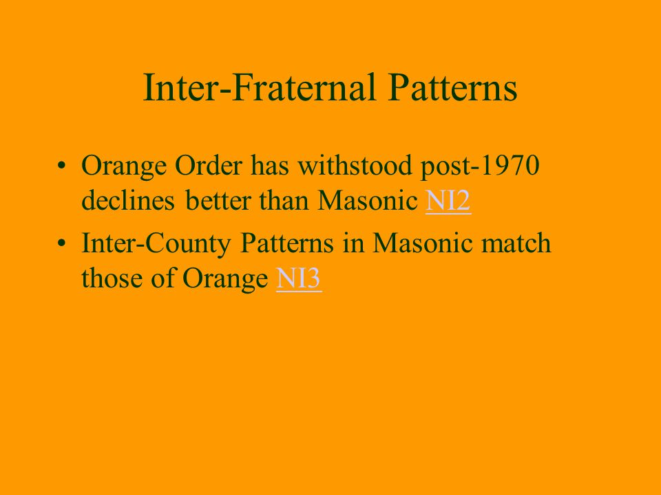 Inter-Fraternal Patterns