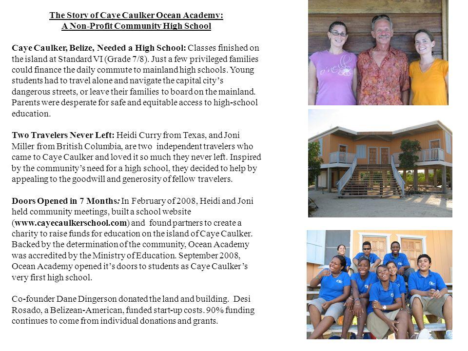The Story of Caye Caulker Ocean Academy: