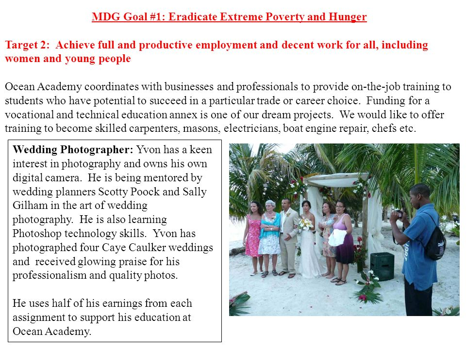 MDG Goal #1: Eradicate Extreme Poverty and Hunger