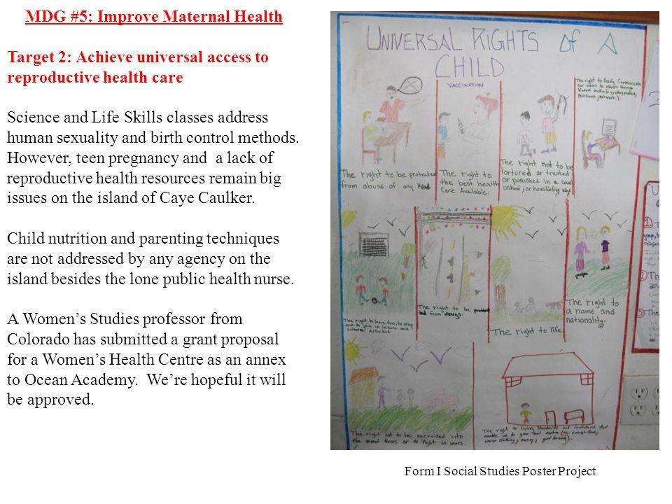 MDG #5: Improve Maternal Health