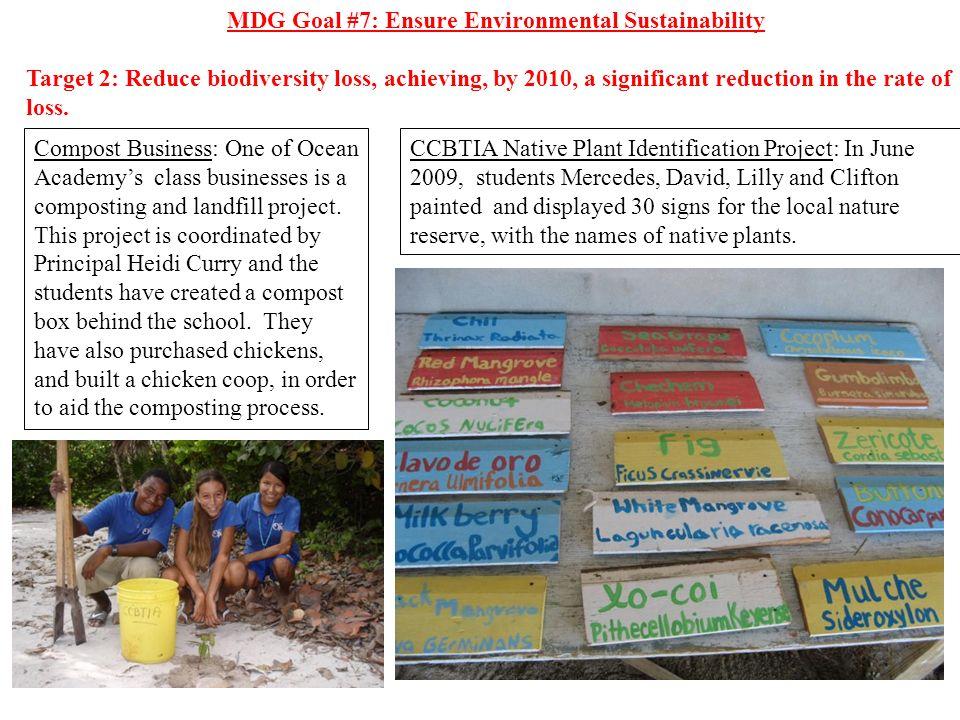 MDG Goal #7: Ensure Environmental Sustainability