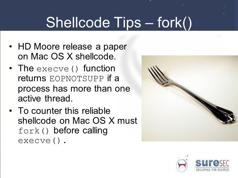 Shellcode Tips – fork()