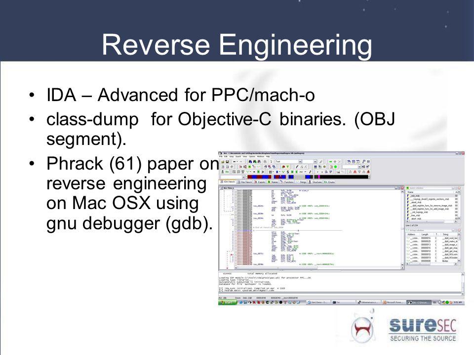 Reverse Engineering IDA – Advanced for PPC/mach-o