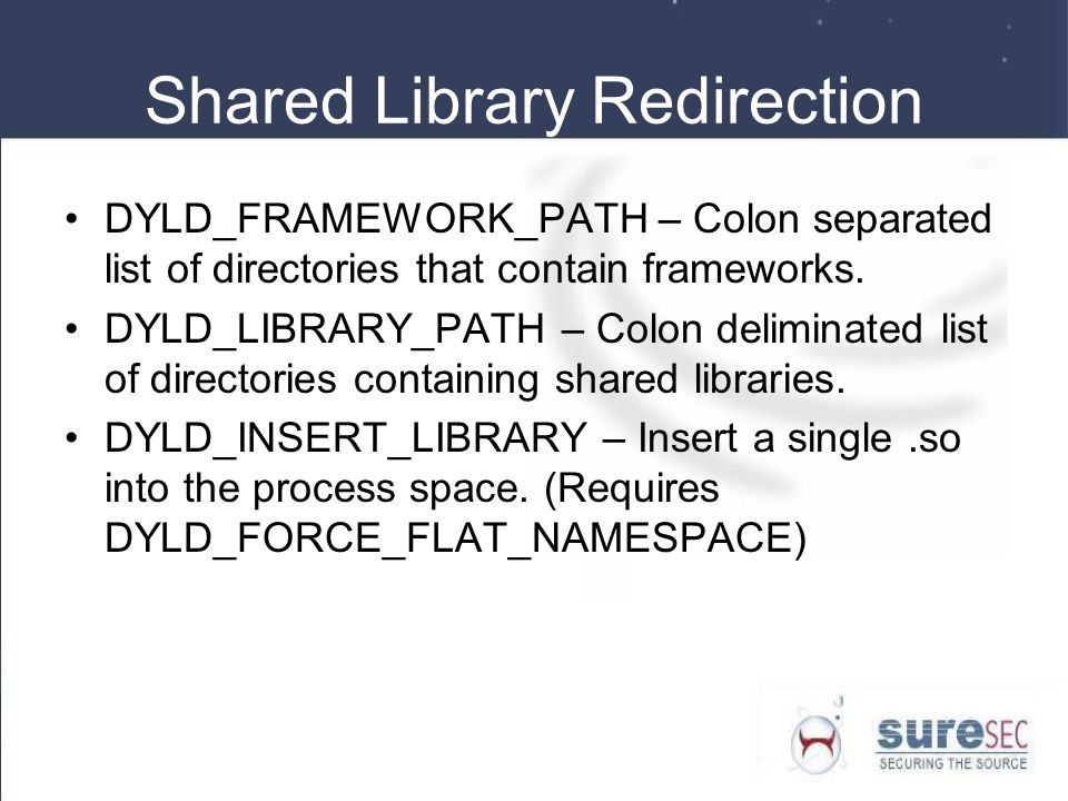 Shared Library Redirection