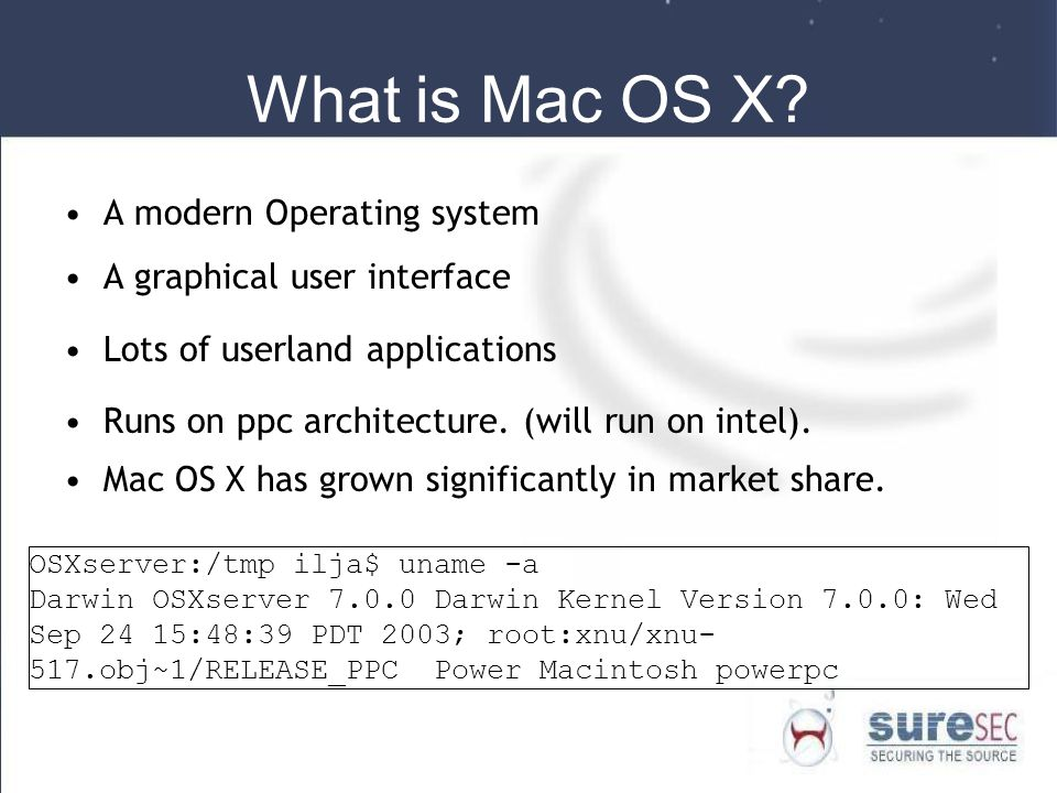 What is Mac OS X A modern Operating system A graphical user interface