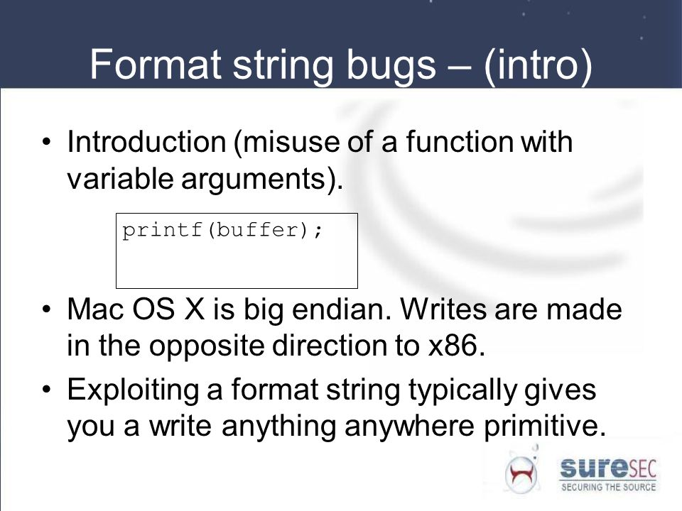 Format string bugs – (intro)