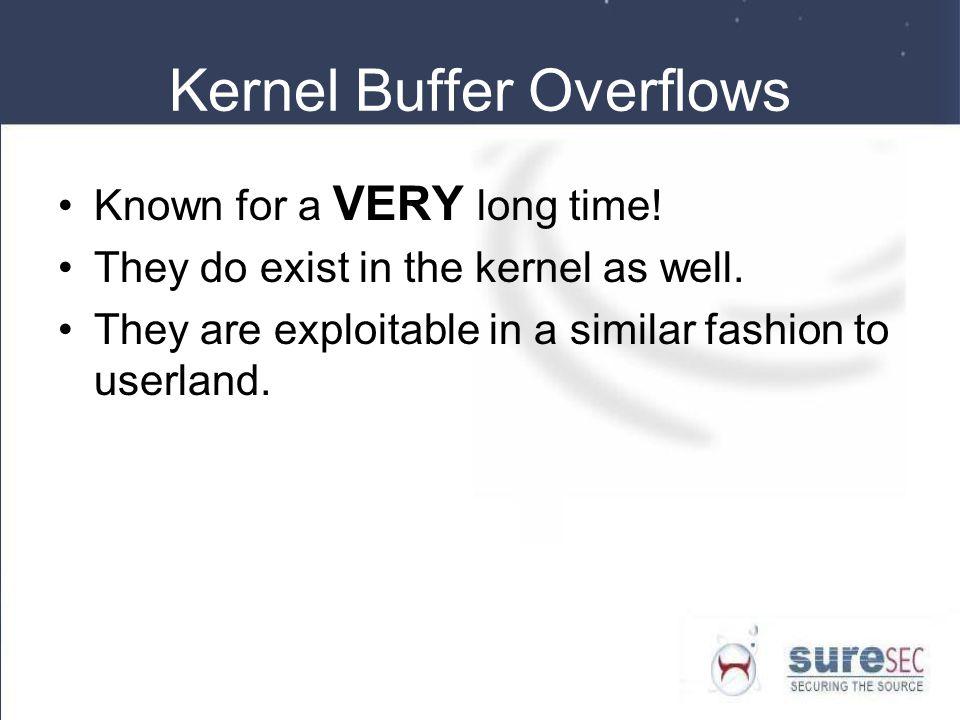 Kernel Buffer Overflows